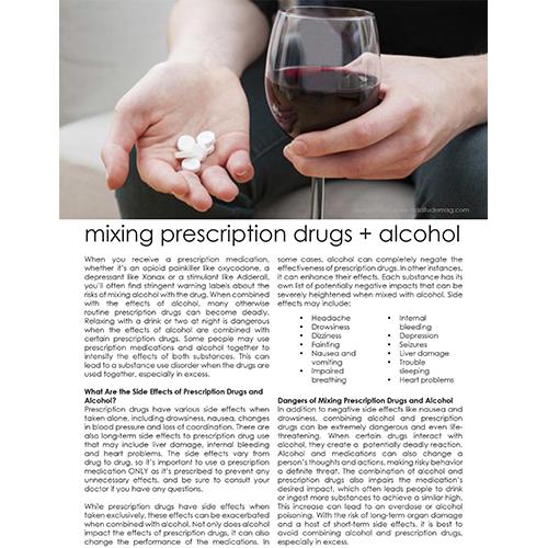 Icon - Prescription Drugs and Alcohol