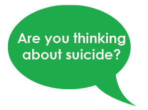 MHAM 2019 Let's Talk Mental Health Image - Are You Thinking About Suicide Bubble