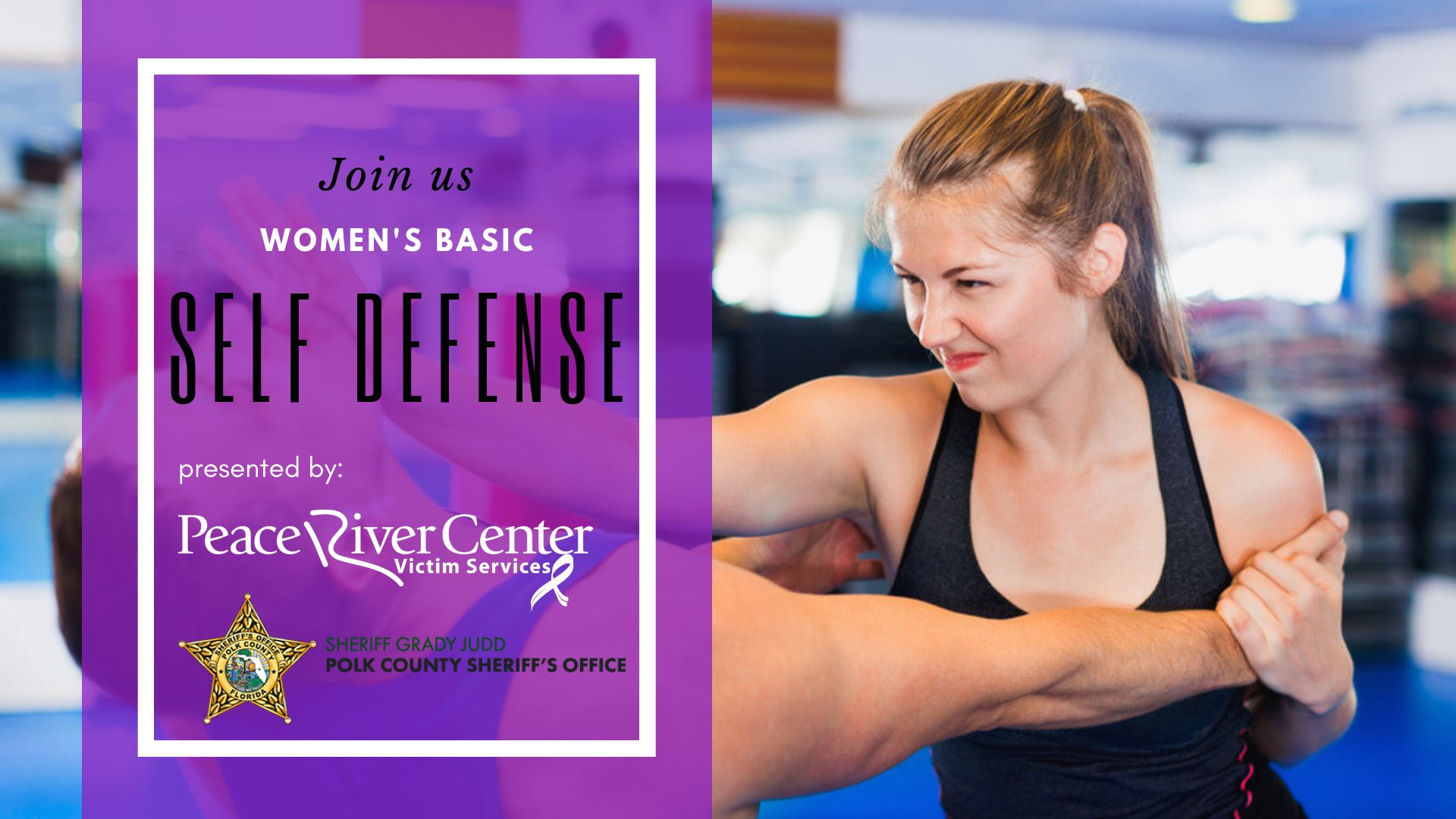 Peace River Center Victim Services Women's Self Defense Class Header Image