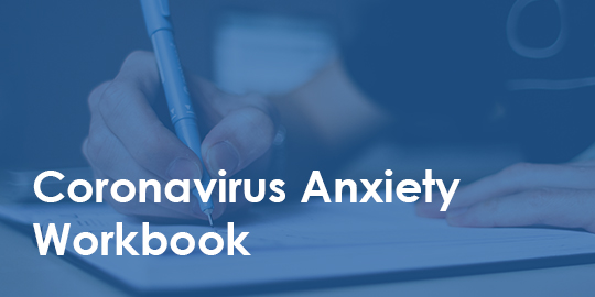 someone writing - covid-19 anxiety workbook
