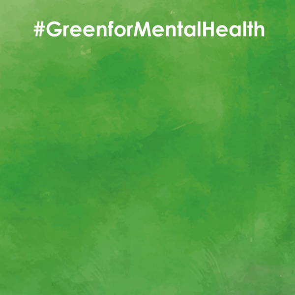 sample zoom awareness background - green for mental health