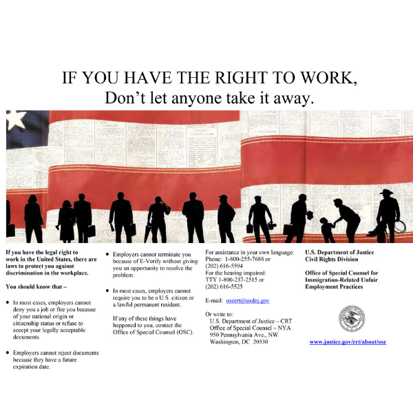 Right to Work Poster
