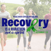 group of joggers with Recovery Run logo